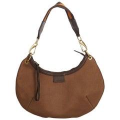 Gucci Brown x Light Brown Canvas Shoulder Bag