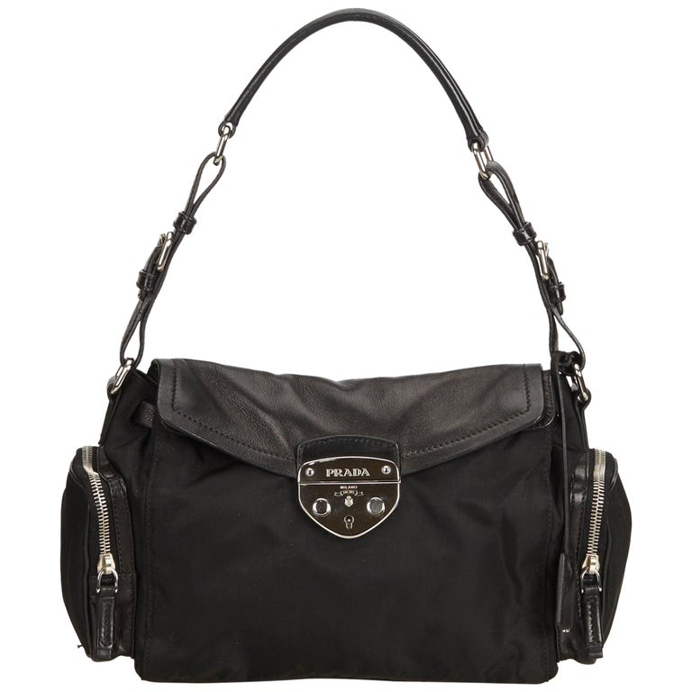 ba8a5b2984a Prada Black Nylon Shoulder Bag at 1stdibs