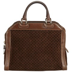 Gucci Brown x Dark Brown Old Gucci Suede Handbag