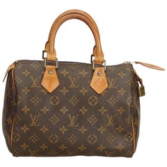 Louis Vuitton Brown Monogram Speedy 25