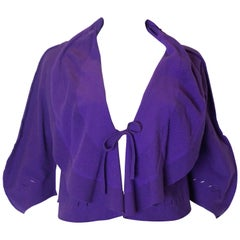 Issey Miyake Fette Range Purple Cardigan