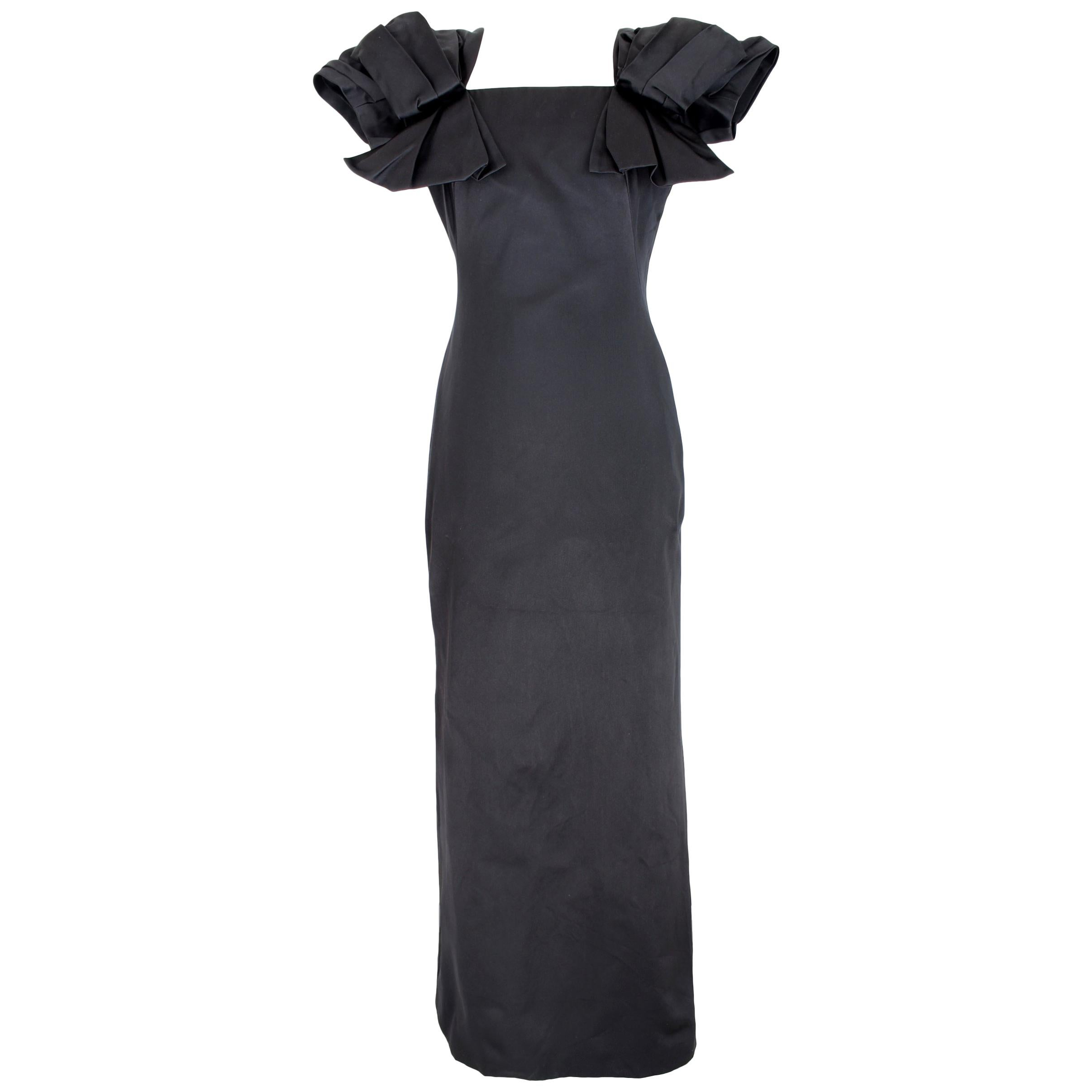 e1030ddc3b Silk Black Dresses - 3532 For Sale on 1stdibs