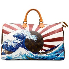 Customised Louis Vuitton 'Japanese Wave' Keepall Bag