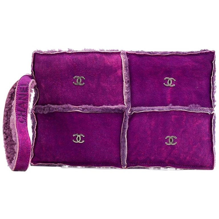 309627965e0b Chanel Purple Mouton Clutch Bag For Sale at 1stdibs