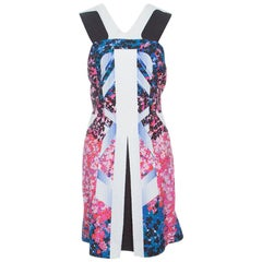 Peter Pilotto Multicolor Floral Printed Kristen Cotton Blend Cloque Dress L