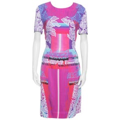 Peter Pilotto Multicolor Orchid Beam Print Short Sleeve Dress M