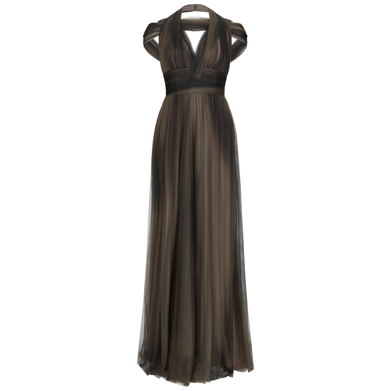 Elie Saab Halterneck Cutout Tulle Gown