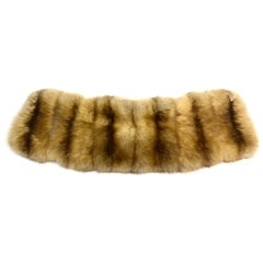 J. Mendel Tan Sable Fur Collar With Button Attachments