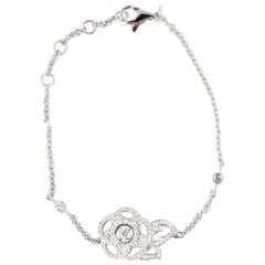 CHANEL 18ct white gold & DIAMONDS 'CAMELIA' Bracelet