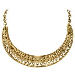 Vintage Yves Saint Laurent Crescent Necklace