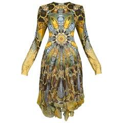 Vintage Alexander McQueen 2010 Plato's Atlantis Printed Dress