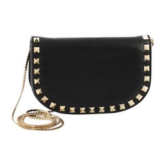 Valentino Rockstud Chain Flap Crossbody Bag Leather Small