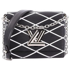 Louis Vuitton Twist Handbag Limited Edition Malletage Epi Leather PM