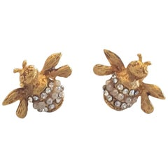 Askew of London Bumble Bee earrings