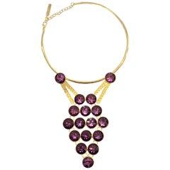 Oscar De La Renta Amethyst Glass necklace
