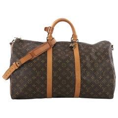 Louis Vuitton Keepall Bandouliere Bag Monogram Canvas 50,