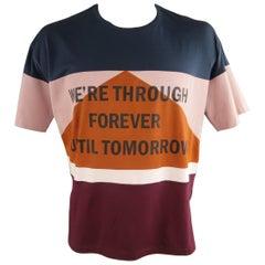 VALENTINO Size M Multi-Color Color Block Cotton T-shirt