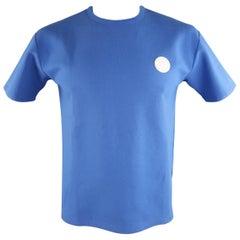 KENZO Size M Blue Solid Cotton /Spandex Patch T-shirt