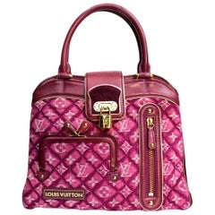 2006 Louis Vuitton Fuchsia Denim and Leather Limited Edition Bag