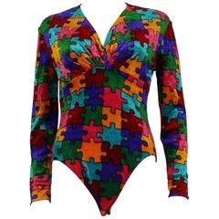 Moschino Vintage Puzzle Bodysuit US Size 8