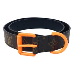 LOUIS VUITTON Monogram Solar Rey BELT w/ Orange Buckle , 2018