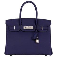 2018 Hermès Bleu Encre Togo Leather Birkin 30cm