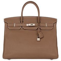 2012 Hermès Etoupe Togo Leather Birkin 40cm