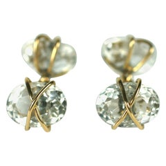 Rock Crystal and Gold Wrapped Cufflinks