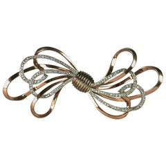 Pennino Sterling Retro Bow Brooch