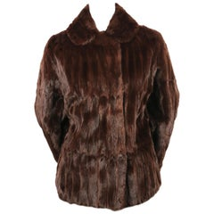 1990's THIERRY MUGLER rich-brown lapin fur coat