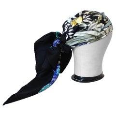1972 Rare Hermes Regina Silk Scarf