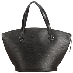 Louis Vuitton Black Epi Saint Jacques PM