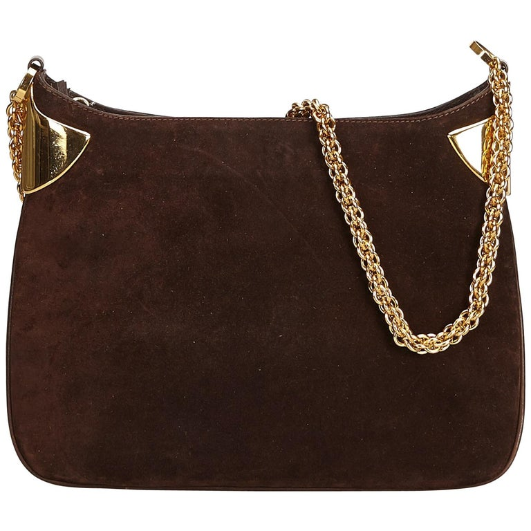 5790f0699d64 Gucci Brown Old Gucci Chain Shoulder Bag at 1stdibs