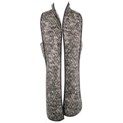 MARISSA WEBB Size S Black & White Chevron Wool Blend Geometric Vest