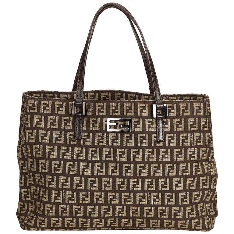 Fendi Limited Edition Zucca Borsa Embroidered Chef Bag. HomeFashionHandbags  and PursesTote Bags. Fendi Brown Zucca Canvas Tote Bag For Sale 98a6814e0e120