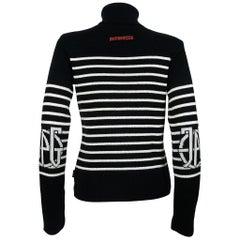 Jean Paul Gaultier Vintage Iconic Matelot Black White Sweater