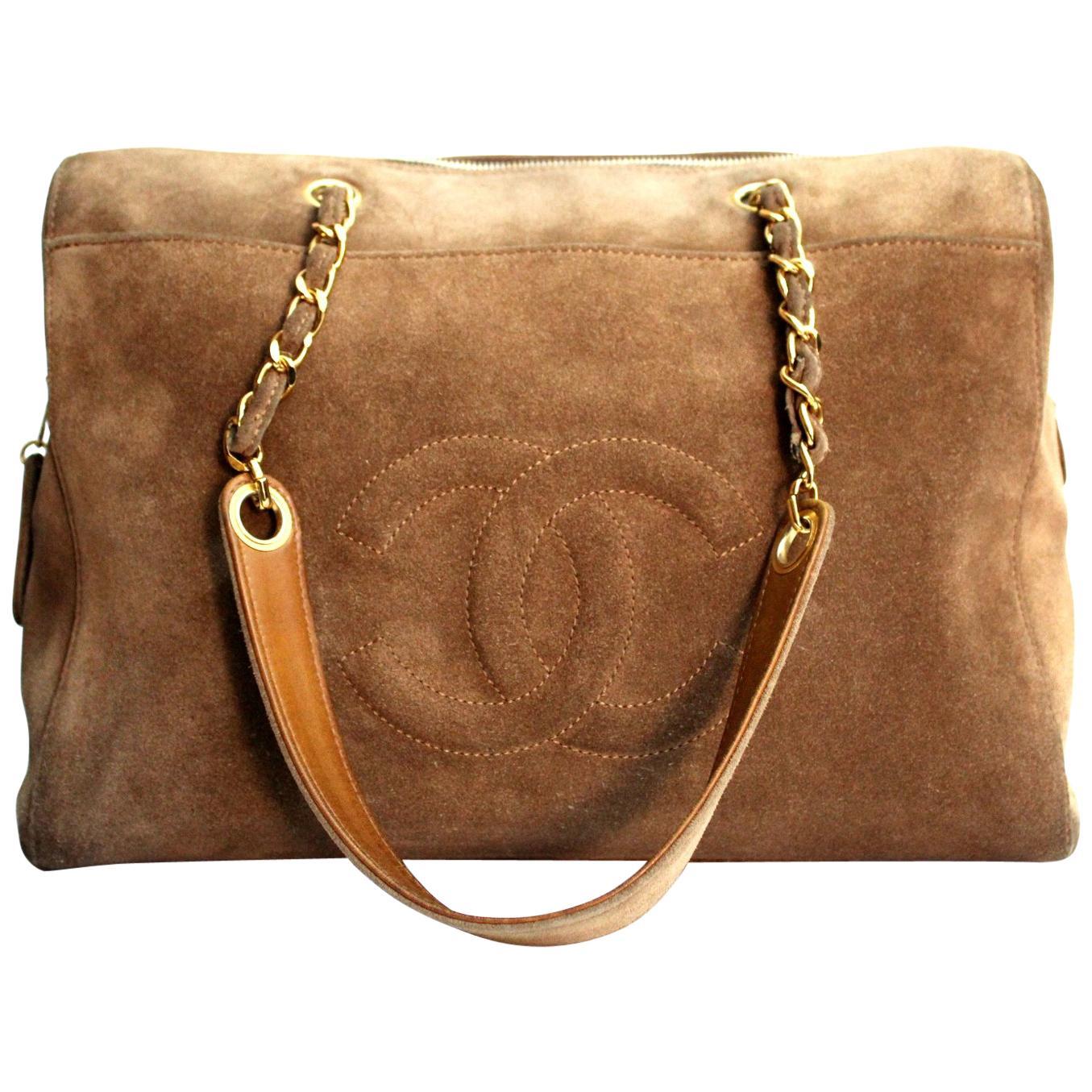 1990s Chanel Beige Chamois Vintage Shoulder Bag