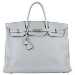 Hermes Birkin Handbag Bleu Arctic Clemence