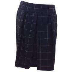 Akris Black and White Wool Skirt