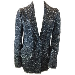 Dolce & Gabbana Black and White Wool Blazer