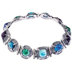 Simon Harrison Angevin Handmade Glass Cabochon Necklace