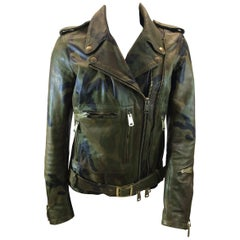 R13 Camouflage Leather Jacket