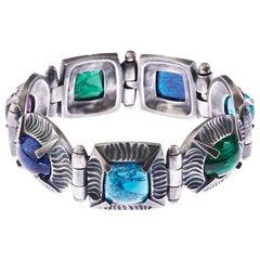 Simon Harrison Angevin Handmade Glass Cabochon Bracelet