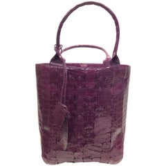 Nancy Gonzales Burgundy Crocodile Handbag