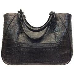 Nancy Gonzales Brown Crocodile Handbag