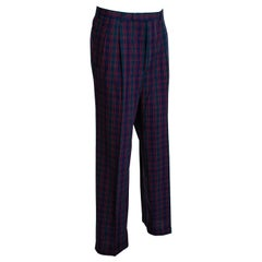 Men's Black Watch Plaid Trousers – Harrod's, 1980s