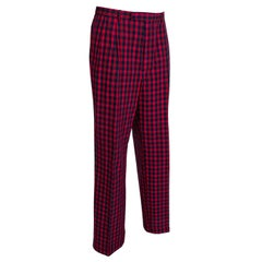 Men's Tartan Plaid Trousers - Harrod's, 1980s