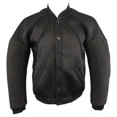 Men's EN NOIR 40 Black Mesh Quilted Sleeve Bomber Jacket