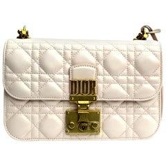 Dior Pink Leather Addict Shoulder Bag