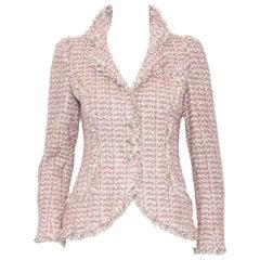 Chanel Mauve, Pink & Beige Metallic Boucle & Sequined Fringe Jacket '06 Cruise